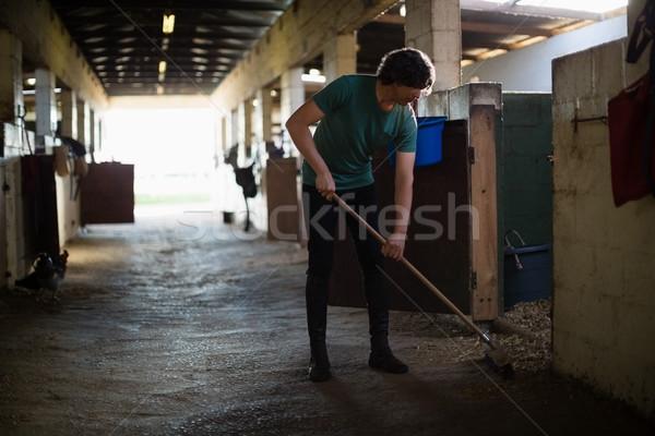 Man bezem schone stabiel jonge man liefde Stockfoto © wavebreak_media