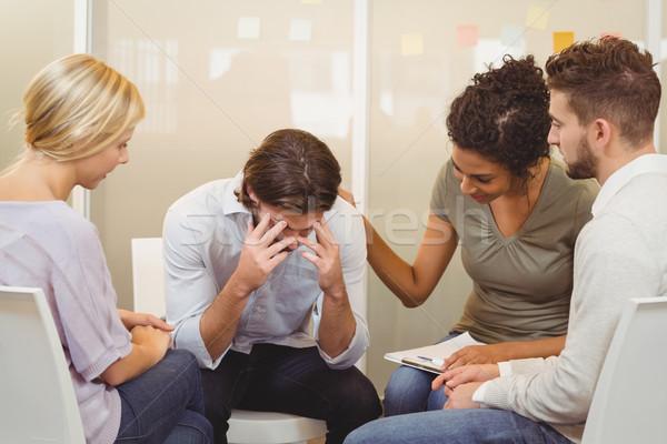 Gens d'affaires affaires souffrance maux de tête bureau homme Photo stock © wavebreak_media