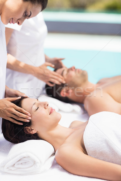 пару голову массаж массажист Spa женщину Сток-фото © wavebreak_media