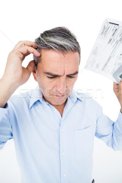 Aggódó férfi adó fehér kezek arc Stock fotó © wavebreak_media