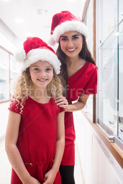 Matka córka christmas stałego biżuteria Zdjęcia stock © wavebreak_media