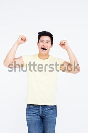 Mutlu adam gülen kamera portre beyaz Stok fotoğraf © wavebreak_media