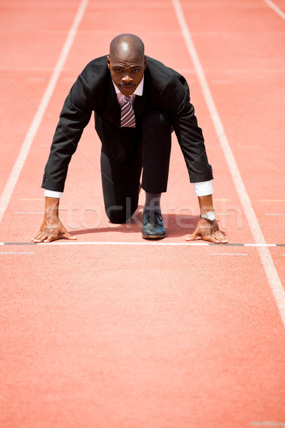 Businessman ready to run Stock photo © wavebreak_media