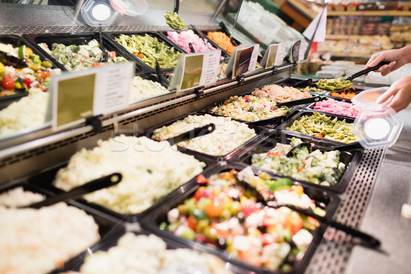 Close up view of an appetizing buffet of prepared meal Stock photo © wavebreak_media