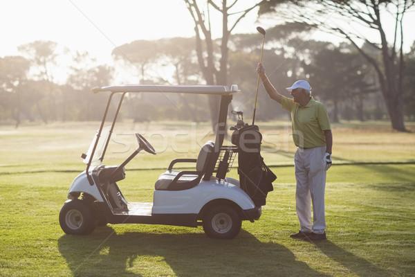 зрелый человек гольф клуба сумку Постоянный области Сток-фото © wavebreak_media