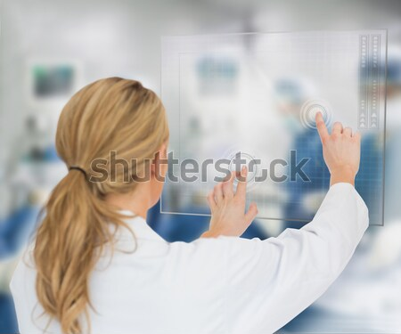 Homme patient séance dentiste président belle Photo stock © wavebreak_media