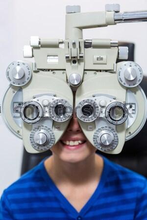 小さな 患者 視力検査 眼科 クリニック 幸せ ストックフォト © wavebreak_media