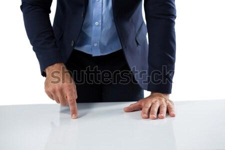 Empresario toque invisible objeto blanco negocios Foto stock © wavebreak_media
