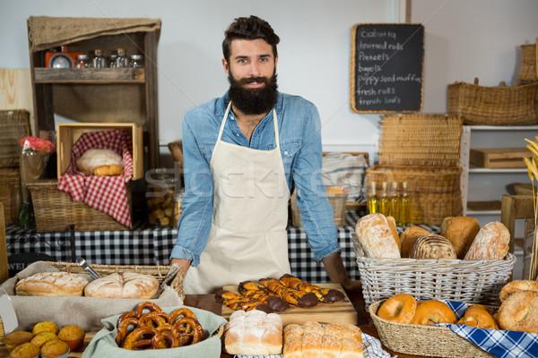 Retrato masculina personal pie panadería contra Foto stock © wavebreak_media