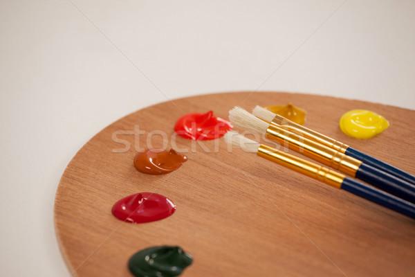 Paleta múltiple colores pintura educación mesa Foto stock © wavebreak_media