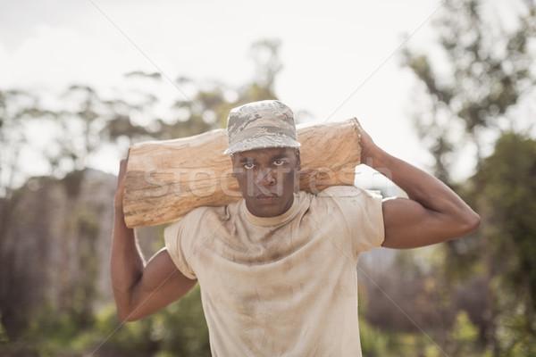 Militaire soldaat boom fitness Stockfoto © wavebreak_media
