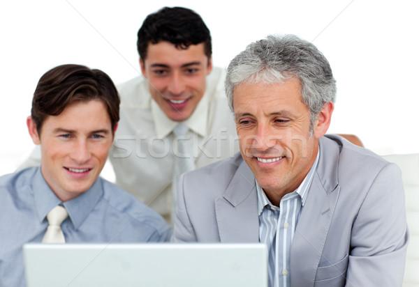 Internationaux affaires travail ordinateur bureau portable Photo stock © wavebreak_media