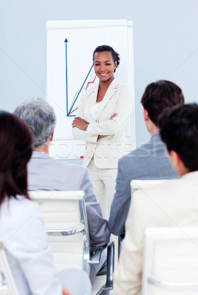 Assertive businesswoman doing a presentation Stock photo © wavebreak_media
