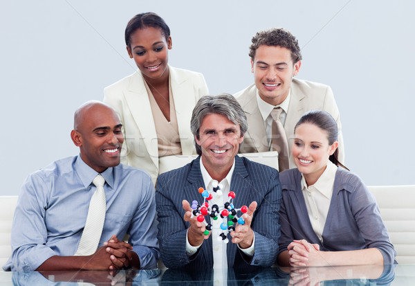 Iş ekibi konuşma yenilik şirket toplantı işadamı Stok fotoğraf © wavebreak_media