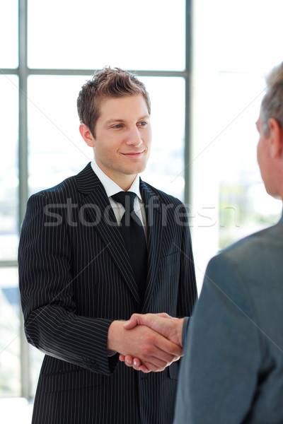 Two Business Man shaking hands Stock photo © wavebreak_media