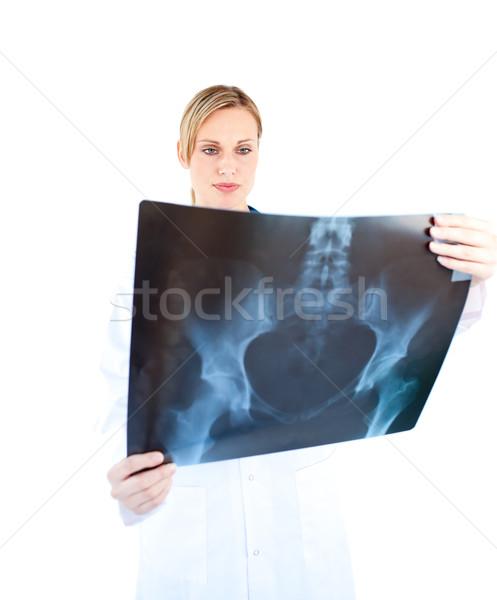 濃縮された 女性 医師 見える X線 白 ストックフォト © wavebreak_media