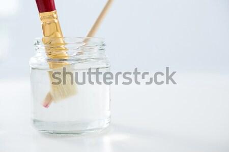 Stock fotó: Rózsaszín · szirmok · üveg · flaska · kamera · fókusz