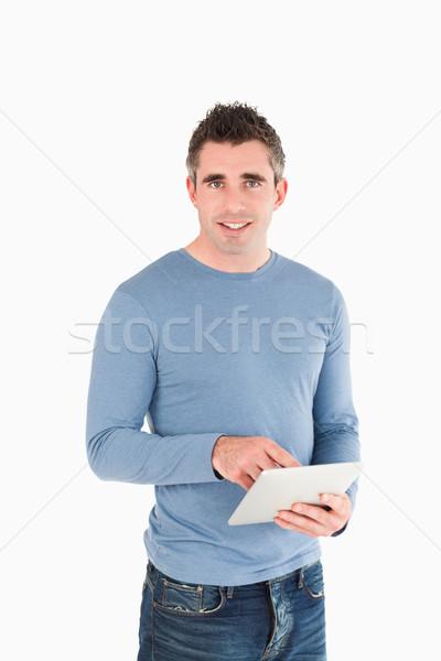 Portret man witte internet schoonheid Stockfoto © wavebreak_media