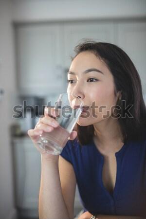 若い女性 見える ガラス 水 白 健康 ストックフォト © wavebreak_media