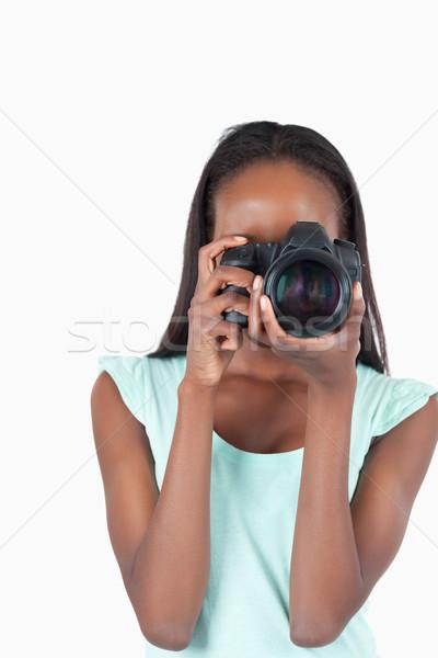 小さな カメラマン 作業 白 少女 背景 ストックフォト © wavebreak_media