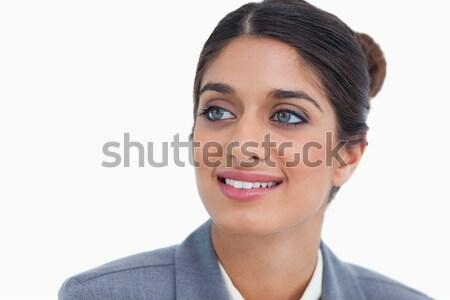 Vrouwelijke ondernemer naar kant witte Stockfoto © wavebreak_media