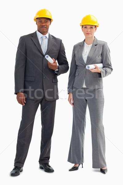 два серьезный деловые люди бумаги Сток-фото © wavebreak_media