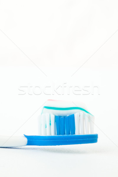 Dentifrice brosse à dents blanche bleu soins dents Photo stock © wavebreak_media