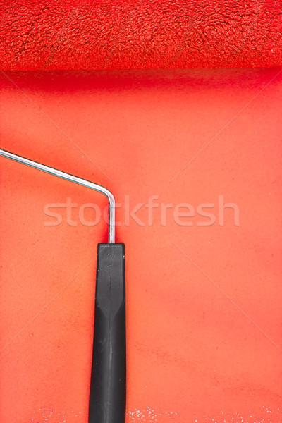 Piros festék fogantyú oktatás szín festő Stock fotó © wavebreak_media