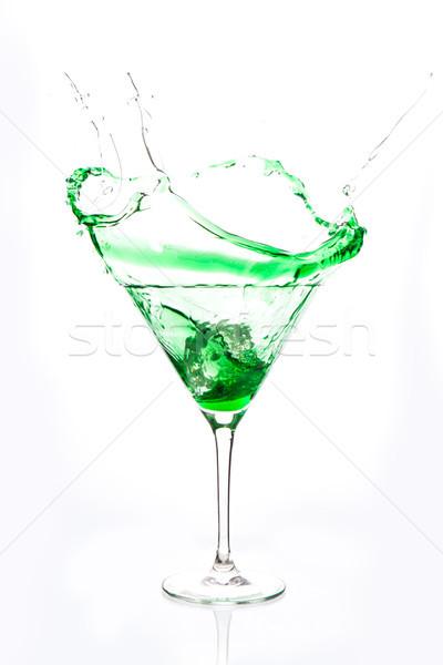 Kokteyl cam yeşil alkol beyaz Stok fotoğraf © wavebreak_media