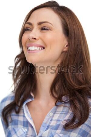 Portret atrakcyjna kobieta biały kobieta myślenia kobiet Zdjęcia stock © wavebreak_media