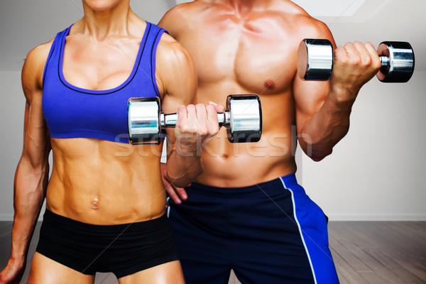 Afbeelding bodybuilding paar digitaal gegenereerde Stockfoto © wavebreak_media