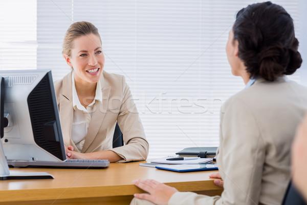 Smartly dressed businesswomen in business meeting Foto stock © wavebreak_media