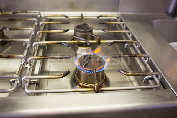 Gas stove with flame Stock photo © wavebreak_media