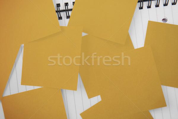 黄色 紙 帳 ストックフォト © wavebreak_media