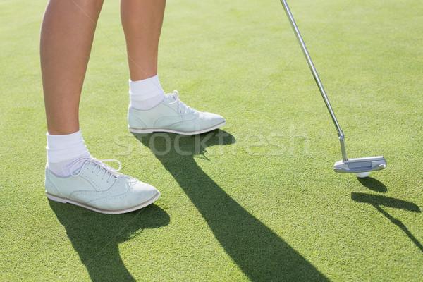 Lady гольфист зеленый гольф женщину Сток-фото © wavebreak_media
