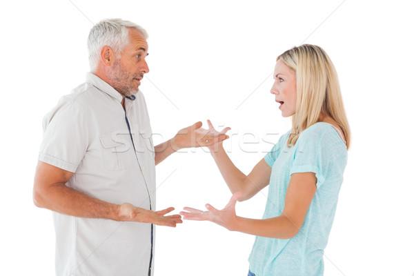 Nieszczęśliwy para argument biały kobieta kobiet Zdjęcia stock © wavebreak_media