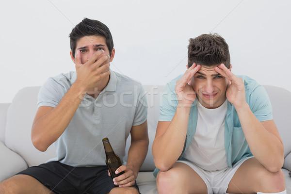 失望した サッカー ファン を見て テレビ 肖像 ストックフォト © wavebreak_media
