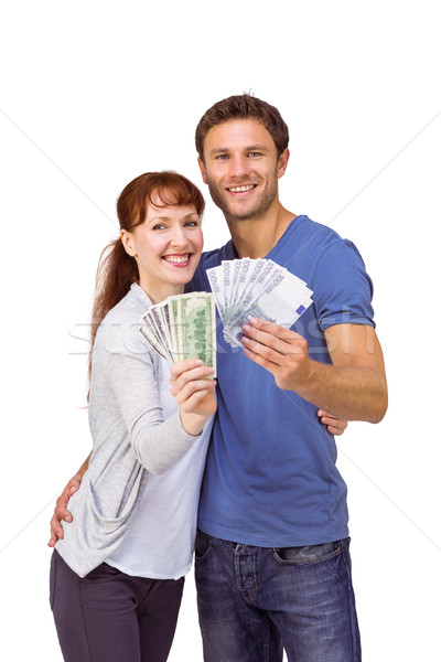 Casal fãs numerário branco dinheiro Foto stock © wavebreak_media