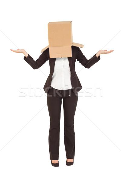 деловая женщина Плечи окна голову белый костюм Сток-фото © wavebreak_media