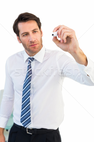 Affaires écrit marqueur blanche homme Photo stock © wavebreak_media