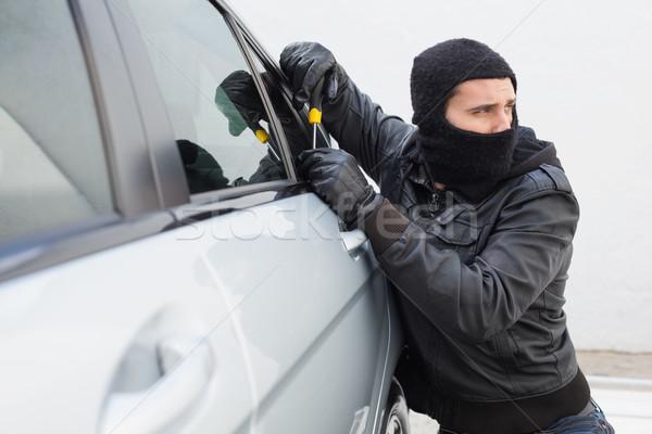 Thief breaking into a car Stock photo © wavebreak_media