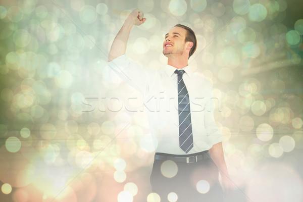 Obraz biznesmen pięść świetle Zdjęcia stock © wavebreak_media