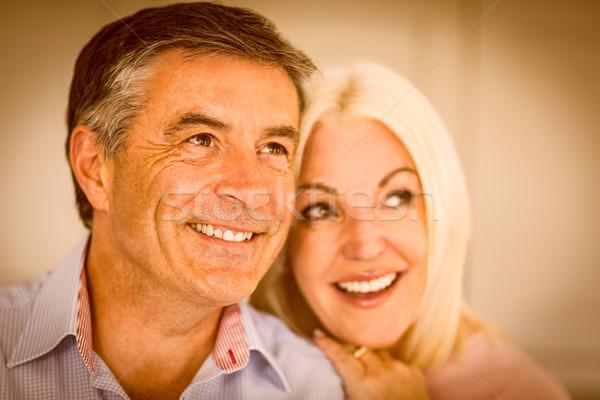 幸せ 成熟した カップル 笑みを浮かべて 一緒に ホーム ストックフォト © wavebreak_media