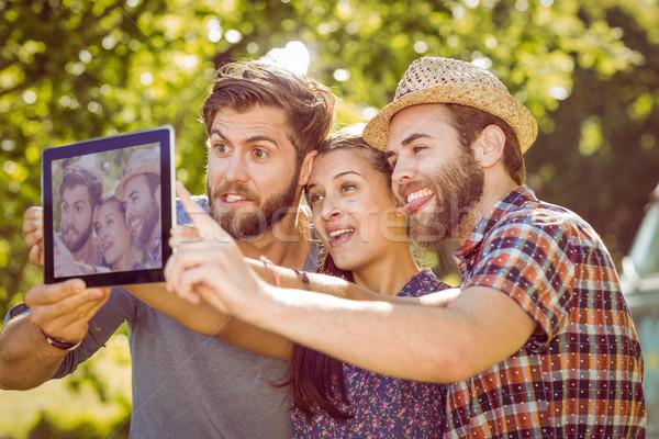 Hipster friends taking a selfie Stock photo © wavebreak_media