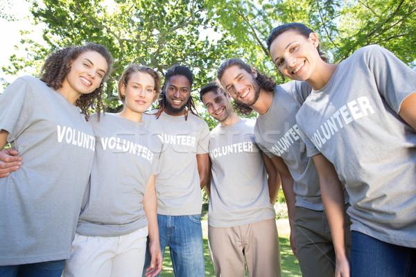 Happy volunteers in the park Stock photo © wavebreak_media