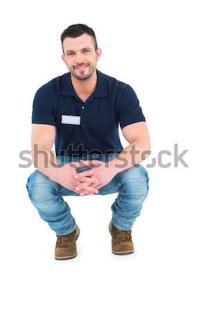 Handyman crouching  Stock photo © wavebreak_media