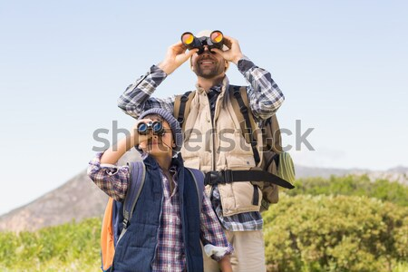 Father and son hiking in the mountains Stock photo © wavebreak_media