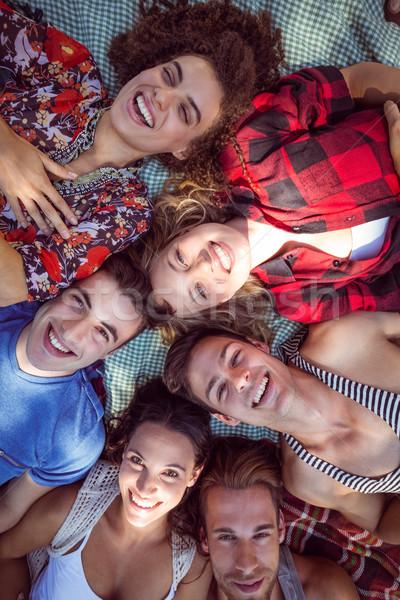 Mutlu arkadaşlar park piknik kadın Stok fotoğraf © wavebreak_media