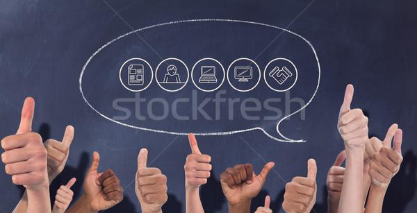 Composite image of hands showing thumbs up Stock photo © wavebreak_media