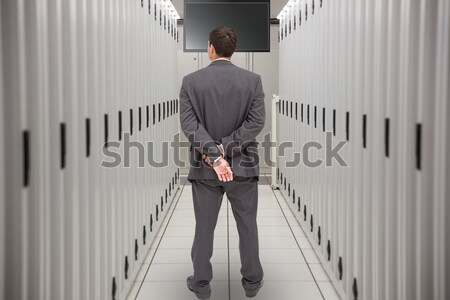 Technician walking in server hallway Stock photo © wavebreak_media